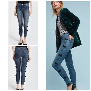 McGuire Anthro Bow Tie Skinny Jeans